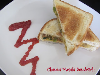 chana masala sandwich