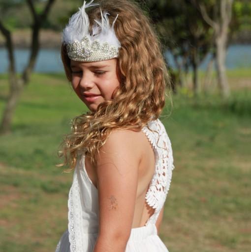 HANDMADE BOHO FLOWER GIRL DRESSES AUSTRALIA