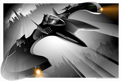 "Batman '89 ""The Batwing"" Screen Print by Craig Drake x Mondo"