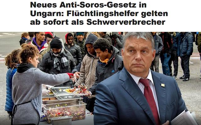 Neues Anti-Soros-Gesetz in Ungarn: Flüchtlingshelfer gelten ab sofort als Schwerverbrecher