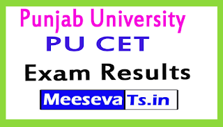Punjab University PU CET Exam Result 2017
