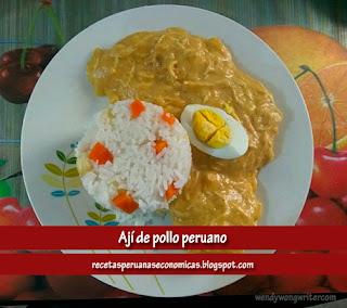 receta peruana Ají de pollo wendywongwriter.com