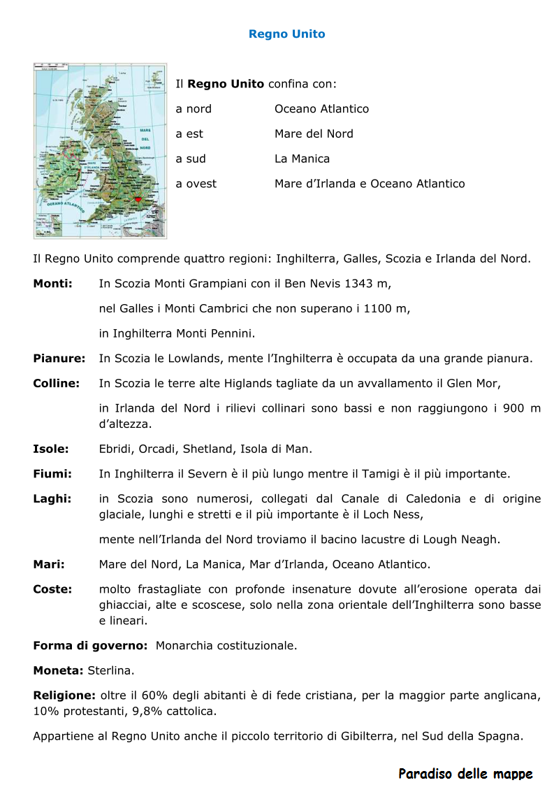 Cartina Regno Unito Con Regioni.Il Regno Unito Lessons Blendspace
