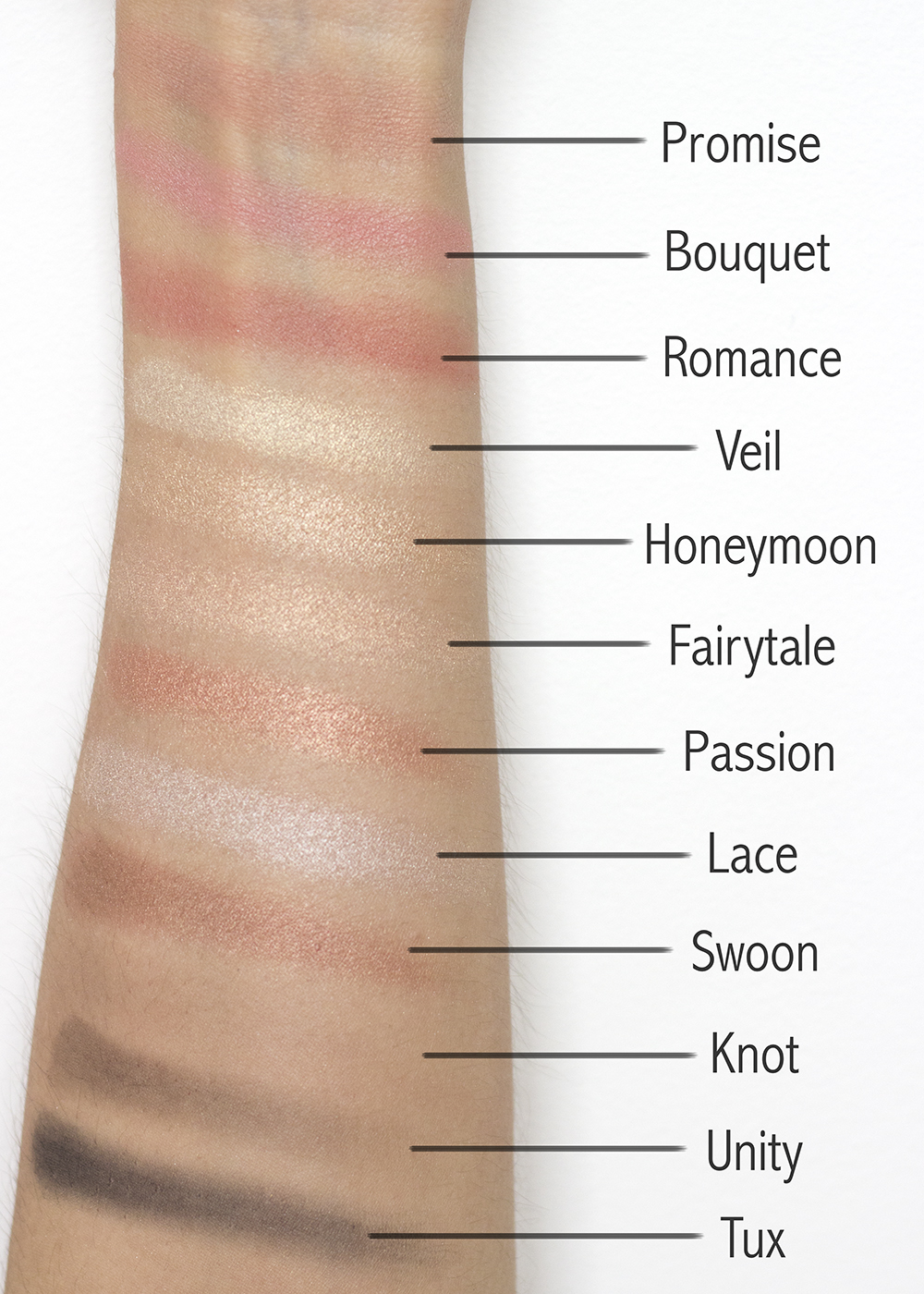 Pixi Beauty Palette Chloette Romantic Radiance Swatches