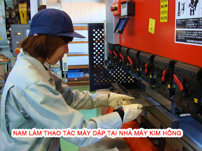 Nam làm cơ khí tại nhà máy Kim Hồng