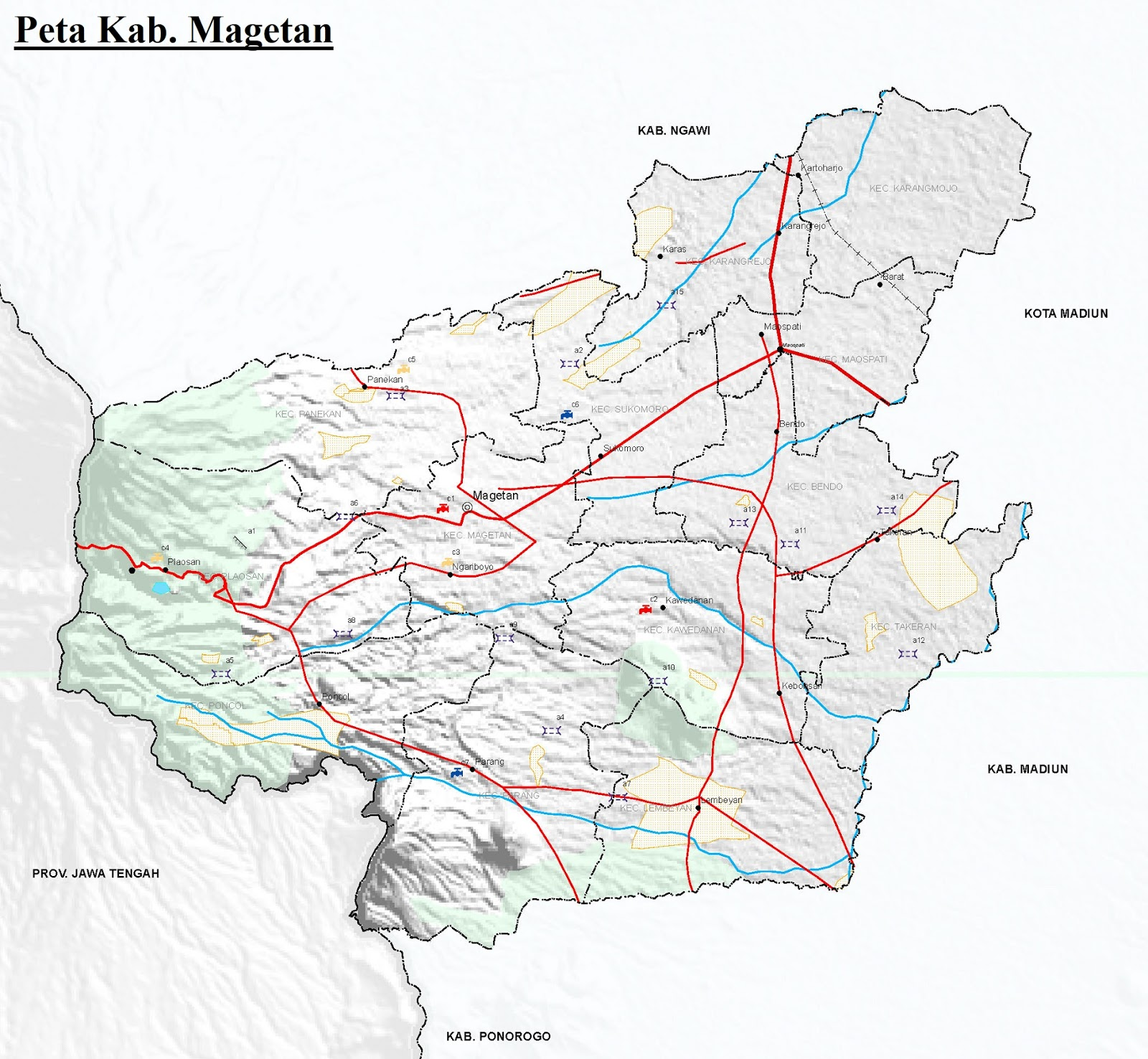 Peta Kabupaten Magetan HD