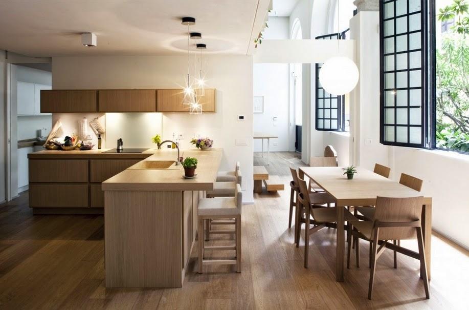 Hal Ini Juga Merupakan Salah Satu Bentuk Efek Dari Penggabungan Ruang Antara Tamu Dengan Makan Dan Desain Dapur Modern