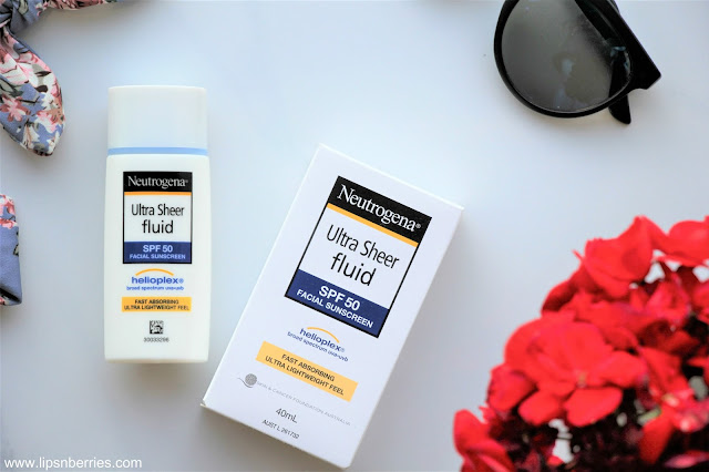 Neutrogena ultra sheer fluid spf 50 facial sunscreen review