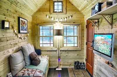 Hermosa cabaña DIY -Sala