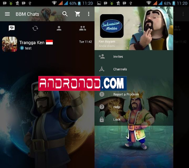 BBM MOD Wizard (Clash Of Clans) V2.13.1.14 Apk Update