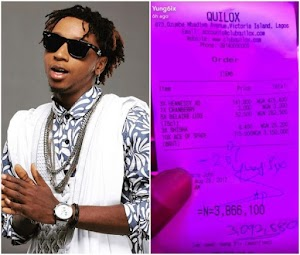 Yung6ix reportedly spends N3.8m for drink to celebrate his accomplishments