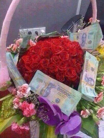 20 bó hoa sinh nhật bằng tiền và đô la độc đáo bá đạo 6