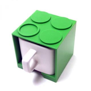diseño creativo de taza lego