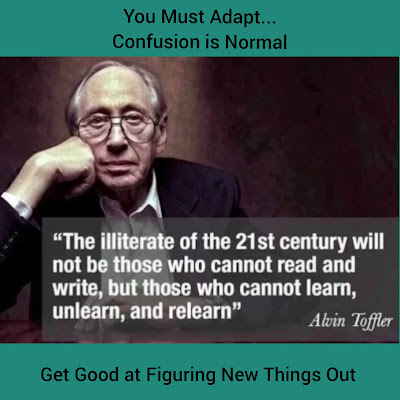 The Coach Ball Blog and Spinwit.com use this quote to talk about adapting to change. Those that can thrive in a state of confusion will be the new intellectuals.