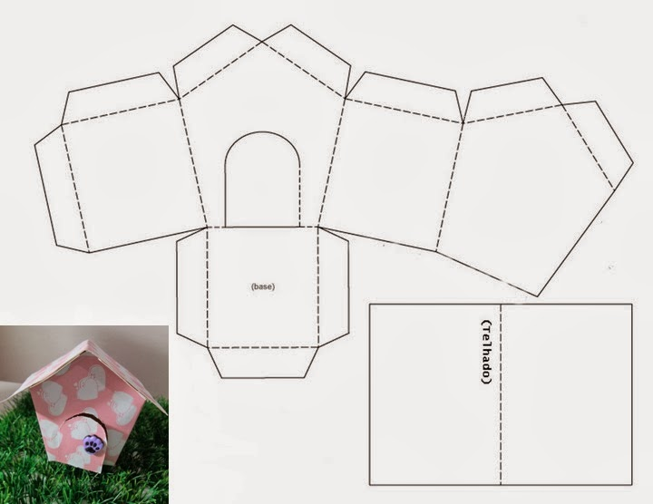 casinha+molde+para+montar-+festasjpg (720×556) patrulla canina - birthday card layout