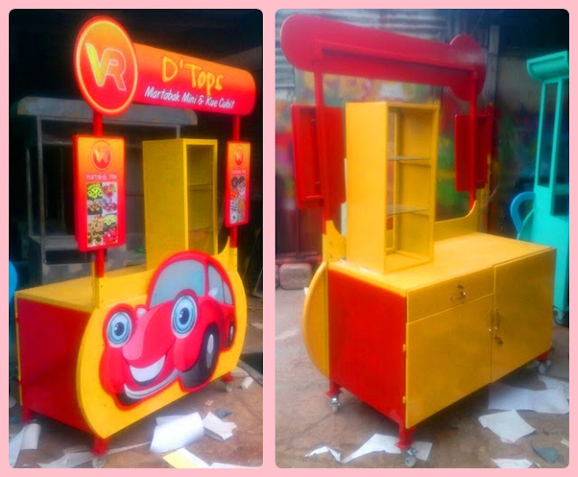 Booth lipat-booth portable martabak mini