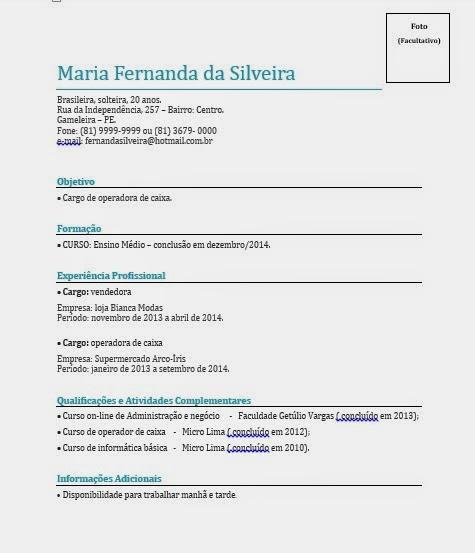 Língua Portuguesa, Com Certeza: Curriculum Vitae
