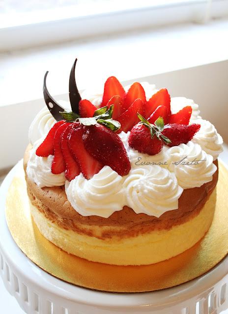 Japanese Cheesecake Birthday Cake