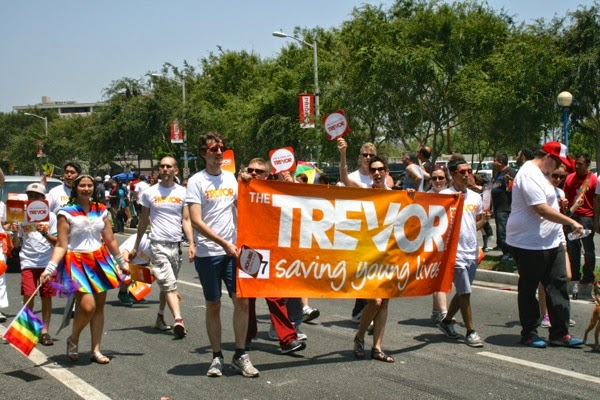 Trevor Project West Hollywood Pride Parade 2014
