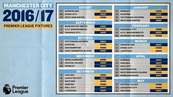 Jadwal Manchester City