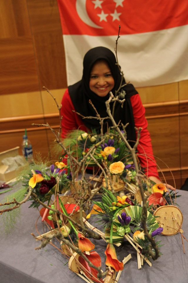 Amazing floral designer, Hamidah Abdul Karim from Singapore