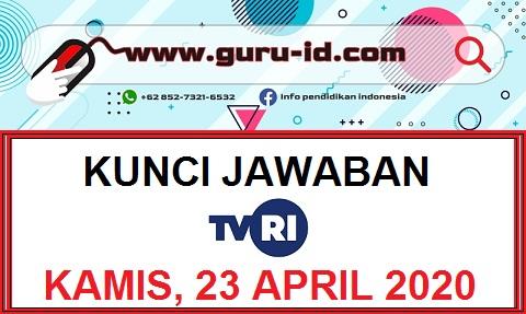 Jawaban Soal TVRI Kelas 1 2 3 Kamis 23 April 2020 - Info ...