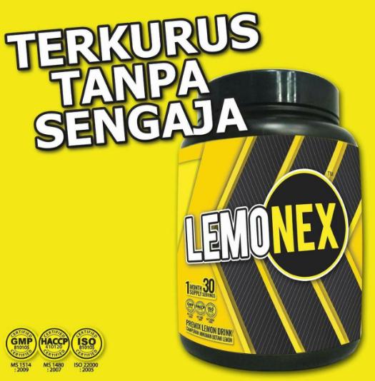 Malas Nak Sediakan Air Detox Lemon, LEMONEX Penyelesaiannya
