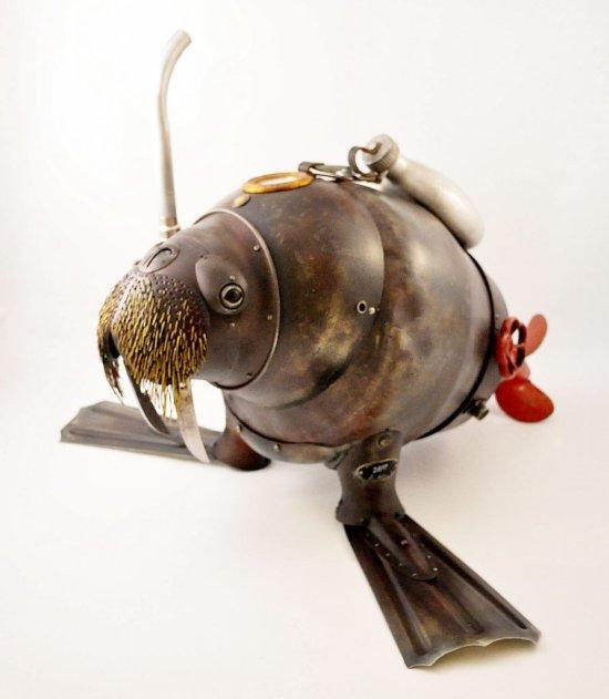 Arturas Tamasauskas Artist Artas esculturas metal ferro velho lixo steampunk animais