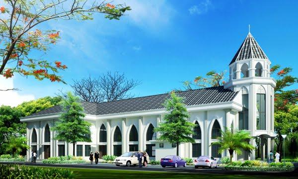 Design Gereja Tarik Garis