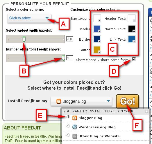 Add Feedjit Live Traffic Feed Widget in Blogger