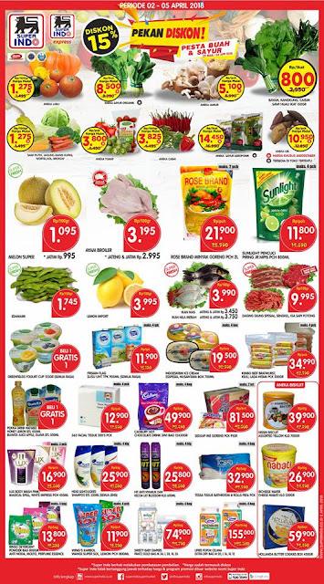 Katalog Harga Promo SUPERINDO Weekday Periode 02 - 05 April 2018