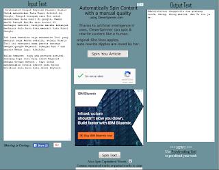 Cara Lolos Copy Paste Artikel Orang Lain dengan Tools Article Spinner