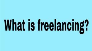 Freelancing topic