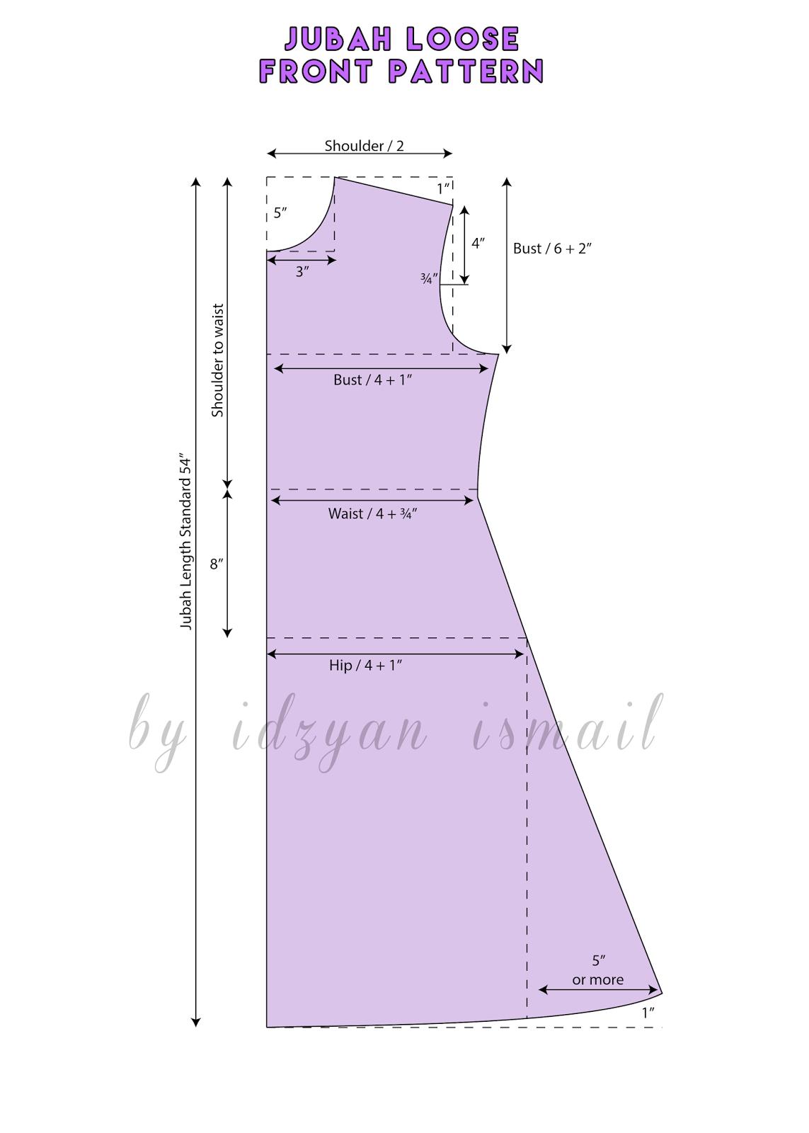 Proud Sewist : Jubah / Abaya Pattern