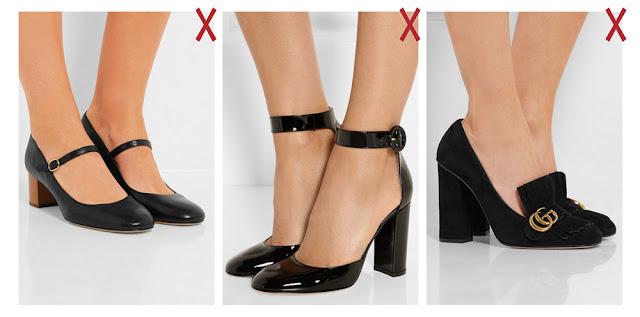 Туфли с ремешками и высоким языком