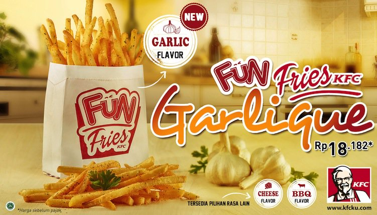 KFC Fun Fries Garlique 2018