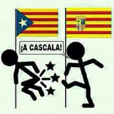 a cascala, a cascarla, Cataluña, Aragón, patada en el culo