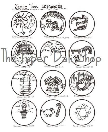 jesse tree coloring pages - photo#24
