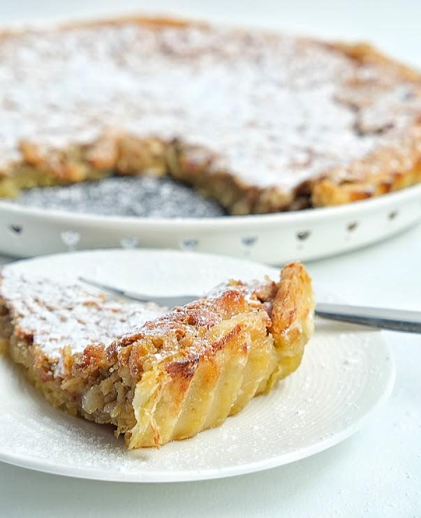 Amandel taart met bladerdeeg /Tarte de Amêndoa - Recept uit Portugal