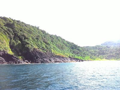 Pemandangan selama perjalan ke Pulau Breuh