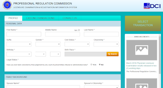 PRC Renewal of License Online - PRC online renewal form