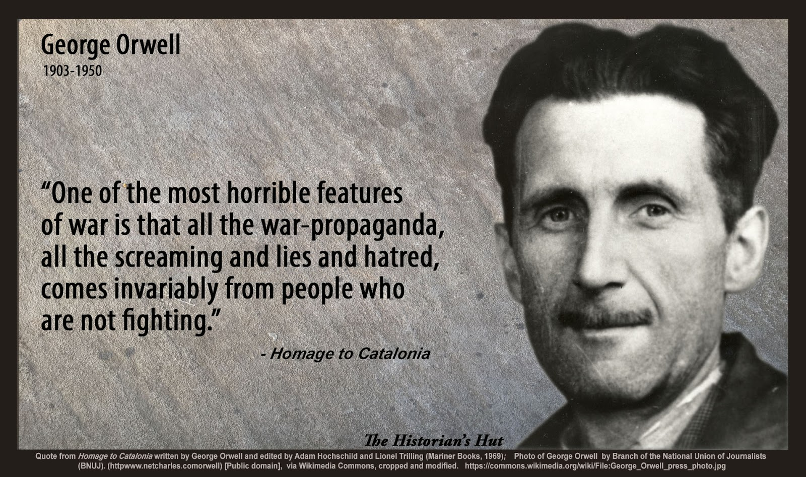 the historian s hut quote pictures george orwell