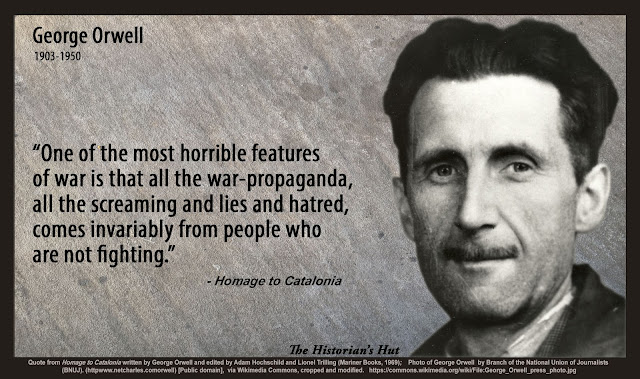 propaganda orwell In 1984, propaganda is used to keep the public controlled, using big brother as their major propaganda, and turn them against goldstien this propaganda helps the party to manipulate the public the propaganda against goldstein is used to harm him, make him public enemy number one, but most importantly, it is a way to control the public as well.
