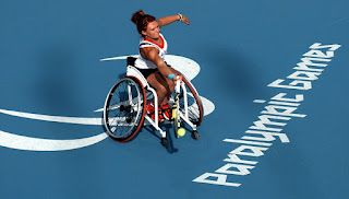 Wheelchair tennis.