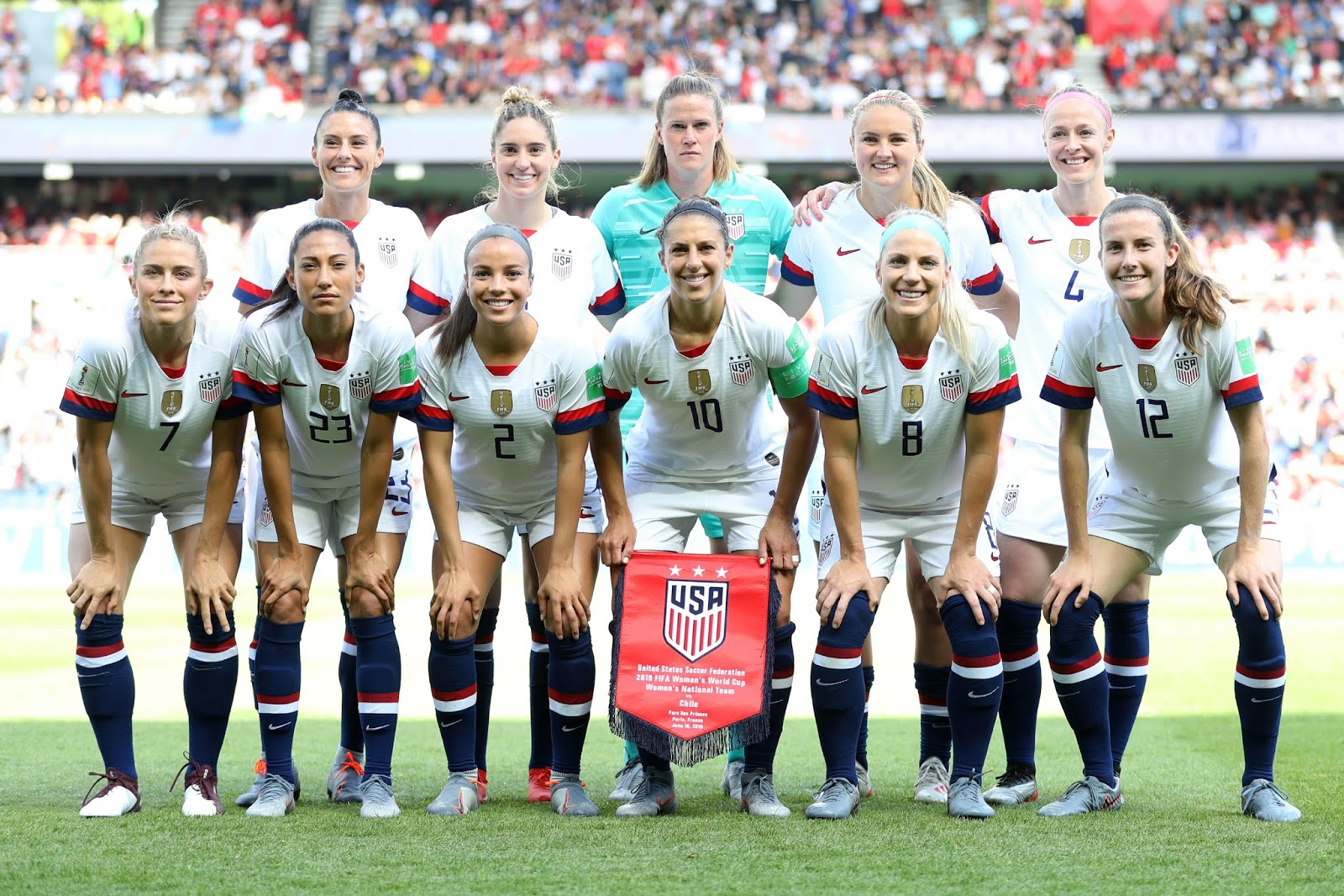 Formación de selección de Estados Unidos ante Chile, Copa Mundial Femenina de Fútbol Francia 2019, 16 de junio