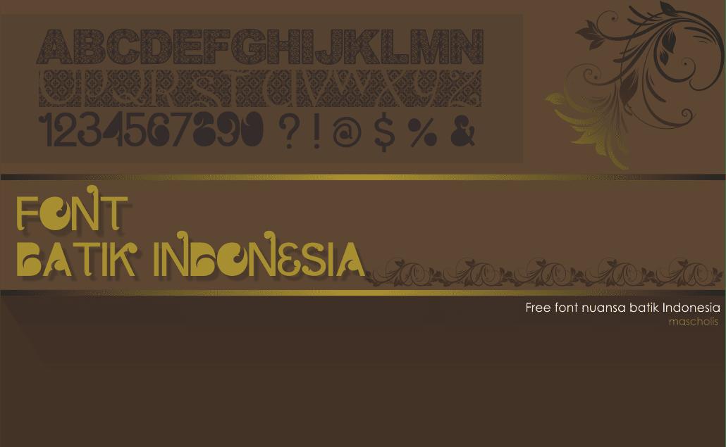 Download Kumpulan Font Batik Indonesia