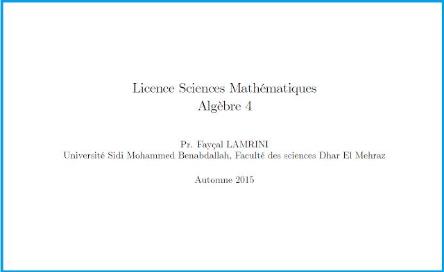 cours algebre smp s1 pdf