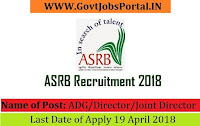 Agricultural Scientists Board Recruitment 2018- ADG/Director/Joint Director