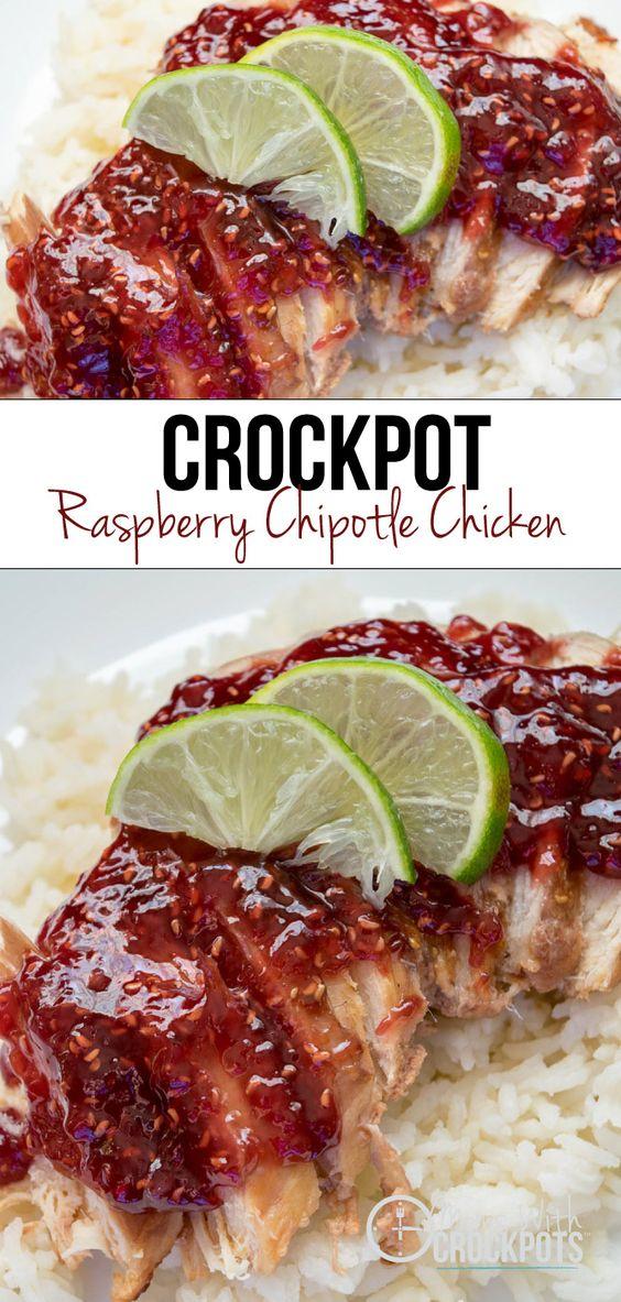Crockpot Raspberry Chipotle Chicken