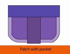 Patch with pocket